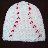 Baby crochet baseball hat