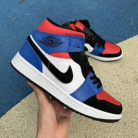 Air Jordan 1 AJ1 Mid Top 3 554725-124