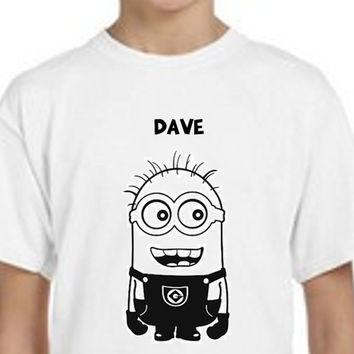Minion // Dave // Despicable Me // Boys Tee Shirt // Multi Colors and Sizes Available