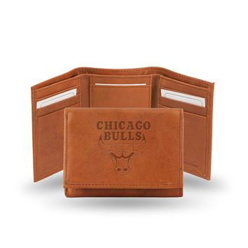 Chicago Bulls Embossed Trifold Wallet