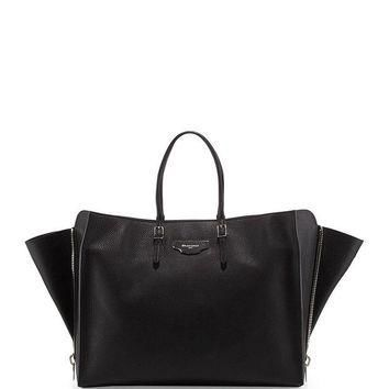 ONETOW papier large zip around tote bag black balenciaga 2