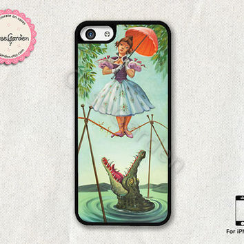 Haunted Mansion Stretching Painting iPhone 5C Case, iPhone Case, iPhone Hard Case, iPhone 5C Cover