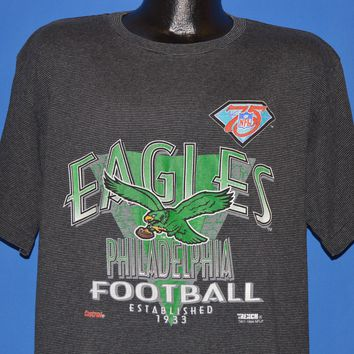 90s Philadelphia Eagles 75th Kelly Green t-shirt Extra Large