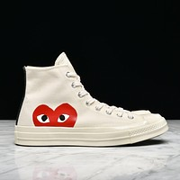 CDG PLAY x CONVERSE CHUCK TAYLOR ALL STAR '70 HIWHITE