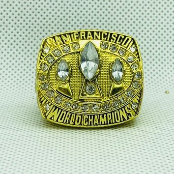 zinc alloy 1988 San Francisco The 49ers Championship Rings With Wooden Box