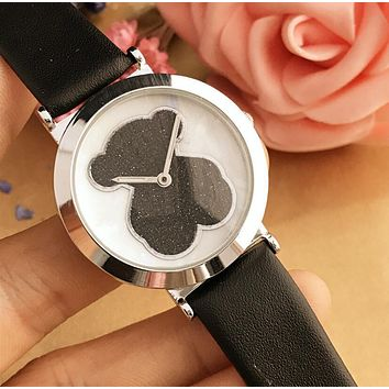 Tous Dazzle Colour Series Stylish Women Simple Bear Movement Watch Wrist Watch Black I12599-1