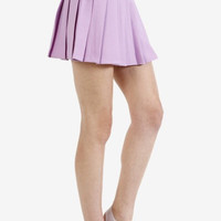 Amira Tennis Pleat Skirt - Lilac