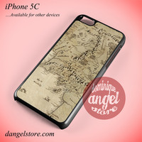 The Lord Of The Rings Middle Earth Map 3 Phone case for iPhone 5C and another iPhone devices