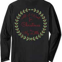 Double Sided Big & Little Christmas Sorority Long sleeve Tee