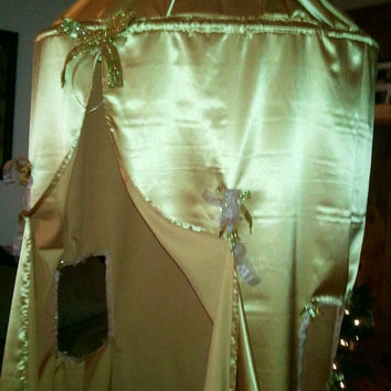 Gold Palace Custom Handmade Childrens Hanging Play Tent, Fort, Camp, hoop tent canopy
