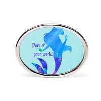 Part Of Your World Oval Ring - Oval Personalized Rings