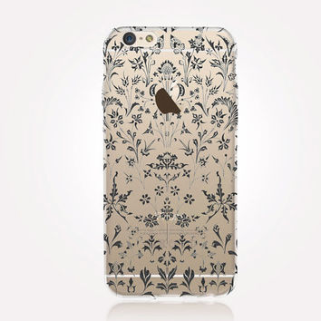 Transparent Floral iPhone Case- Transparent Case - Clear Case - Transparent iPhone 6 - Transparent iPhone 5 - Transparent iPhone 4