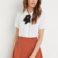 Sailor Button Mini Skirt