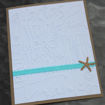Starfish Thank You Cards Beach Wedding by RoyalRegards on Etsy