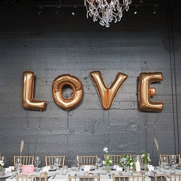 "FREE SHIPPING Love Jumbo Balloon / 40"" Love Ballon / Bride /  Wedding Decor / Foil Letter Balloons / Engagament Party / Anniversary Party"