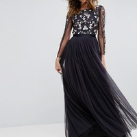 Needle & Thread Ditsy Scatter Tulle Gown at asos.com