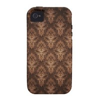 Brown Antique Vibe iPhone 4 Case