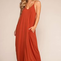 Sunup To Sundown Maxi Dress - Copper