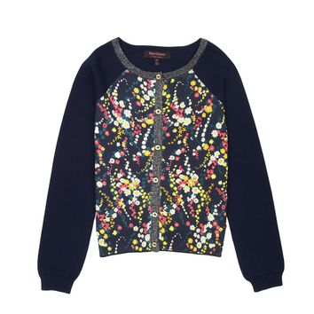 Girls Wildflower Print Floral Cardigan by Juicy Couture