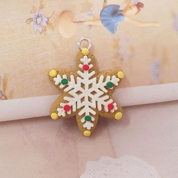 1Pcs Kids Gift Christmas Gift Classroom Ornaments Polymer Clay Pendants Party Decoration D_L