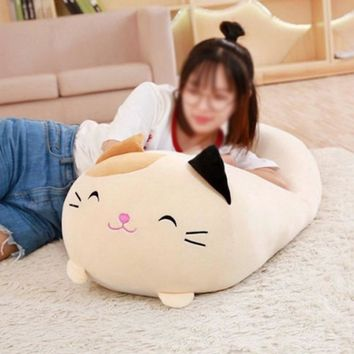 30cm/60cm Squishy Chubby Cute Pillow Stuffed Soft Animal Cartoon Cushion Plush Toy Stuffed Pillow Decoration Doll Xmas Gift
