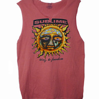 Sublime - 40oz To Freedom men's raw edge vintage look muscle shirt