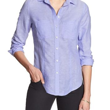 Banana Republic Womens Factory Soft Wash Shirt