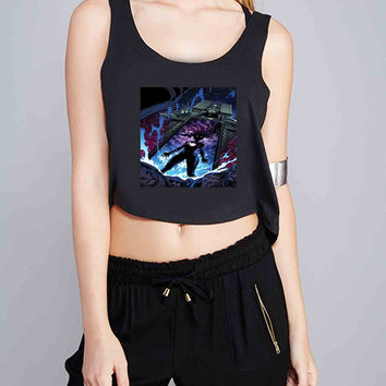 Marvel The Black Vortex for Crop Tank Girls S, M, L, XL, XXL *07*