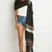 Hooded Fringe Scarf