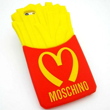 Moschino Iphone 6 6S Fries McDonalds Phone Cover Case