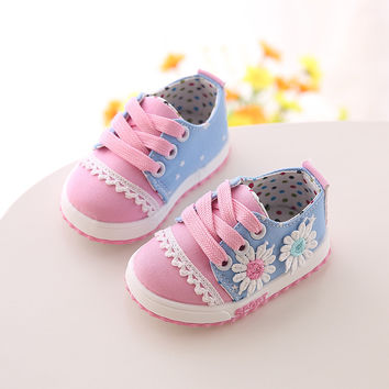 Polka Dot First Walkers For Baby Girl