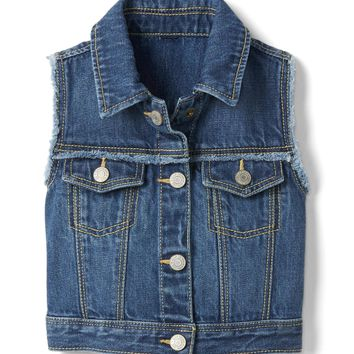 Frayed denim vest | Gap