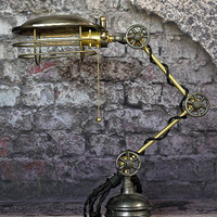 Articulating Desk Lamp - Lamp - Steel - Solid Brass - Table Lamp - Office Lamp - Steampunk Lamp - Industrial - Best Quality