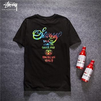 Stussy Woman Men Fashion Casual Tunic Shirt Top Blouse