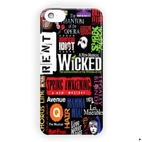 Broadway Musical Collage Art For iPhone 5 / 5S / 5C Case