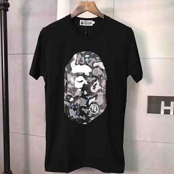 Bape Trending Fashion Casual Camouflage Print Logo Short Sleeve T-shirt G-ALG-CPFS-3
