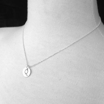 Sterling Silver Initial Necklace, Letter Q Necklace, Letter Q Jewelry, Custom Initial Jewelry, Charm Necklace, Sterling Silver Jewelry