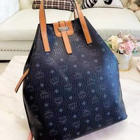 MCM New fashion more letter print leather shoulder bag women handbag 1#