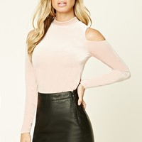 Faux Leather & Lace Skirt