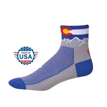 COLORADO FLAG BLUE MOUNTAIN SOCKS