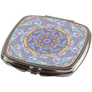 DCCKJY1 Mandala Trippy Stained Glass Fish Compact
