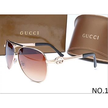 GUCCI 2018 counter models men and women tide brand stylish elegant sunglasses F-ANMYJ-BCYJ NO.1