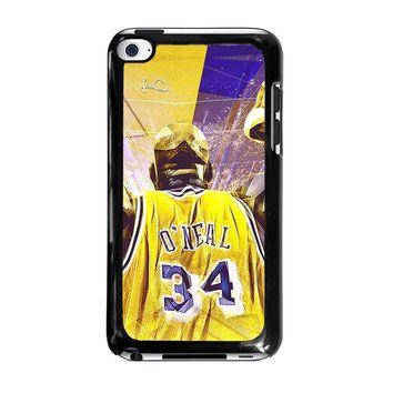 SHAQUILLE O'NEAL LA LAKERS iPod Touch 4 Case Cover