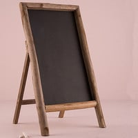 Rustic Wood Chalkboard Sign