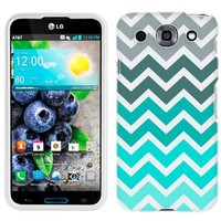 LG Optimus G PRO Chevron Grey Green Turquoise Case