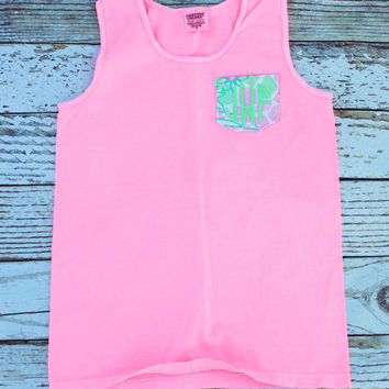 Personalized Comfort Colors Pocket Tank