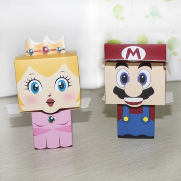 Wedding gifts 80pcs/lot cartoon Super Marie Bros princess Bride and Groom wedding favors Mario candy box = 1930134660