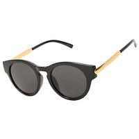 Black & Gold Rounded Cat Sunglasses