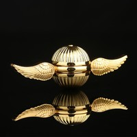 New Hand Spinners Golden Snitch Harry Potter Fans Gyro Metal Alloy Fidget Spiners Anti Stress Wheel Toy Cube Spinning Top LED