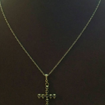 Cross and skull necklace